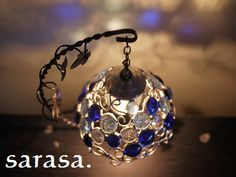 青い地球ランプ