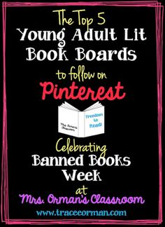 Mrs. Orman's Classroom: The Best Pin Boards on Pinterest for Young Adult Books