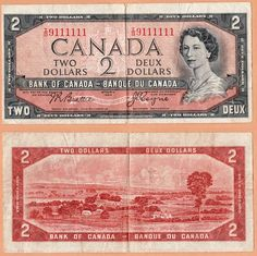 Bank of Canada Two Dollar Bill 1964 Canadian Things, I Am Canadian, Canadian Girls, Canadian History, Canada Day, 2 Dollar Bill, All About Canada, Voyage Canada, Canadian Dollar