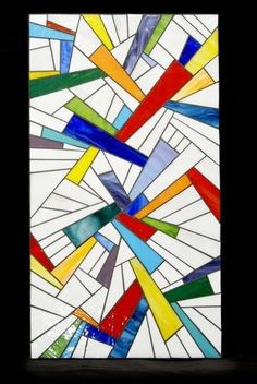 """Custom Made Stained Glass Panel """"Shine''"""