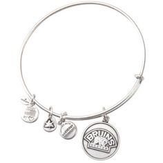 Boston Bruins Bear Logo Silver Alex & Ani