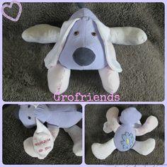 Babygro keepsake Puppy Dog - handmade in the UK by www.grofriends.co.uk #handmade #keepsake #baby #puppy
