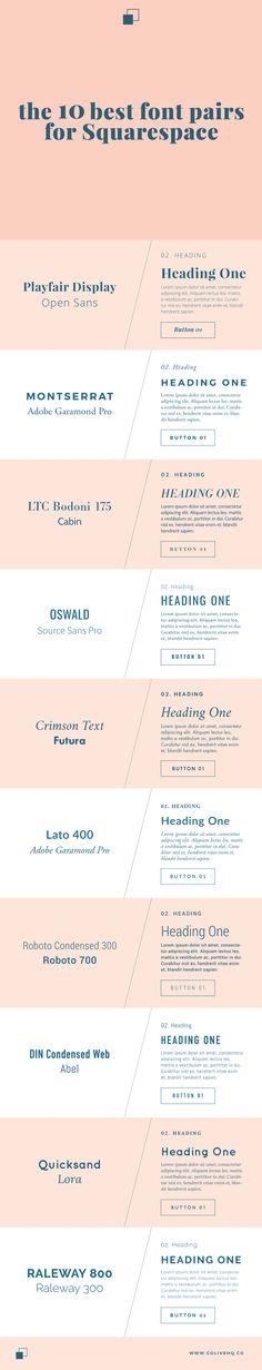 the 10 best font pairs for squarespace | Promisetangeman.com