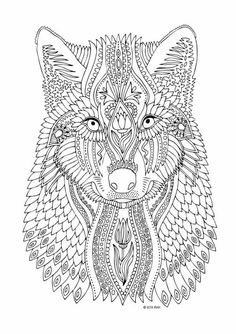 Free printable wolf adult coloring page. Download it in ...