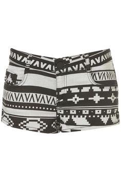Moto Aztec Hotpants