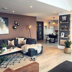 87 Neat and Cozy Living Room Ideas – Page 64 of 87 – Veguci Wohnzimmer Wohnzimmer Design Wohnzimmer Dekor Wohnung Home Living Room, Interior Design Living Room, Living Room Designs, Design Interiors, Accent Walls In Living Room, Interior Livingroom, Decor For Living Room, Living Room Styles, Design Room