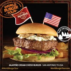 #WorldBurgerTour: il Local Burger dell'Hard Rock Cafe San Antonio, Jalapeno Cream Cheese Burger!