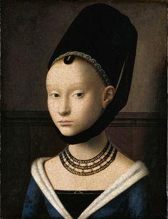 Vittore Carpaccio (Italian High Renaissance Painter, ca.1450-1525) Portrait of a Young Woman