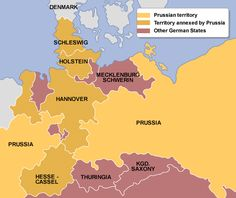 3 wars to unify germany the danish war of 1864 the 7 weeks war of 1866 and the franco prussian war c I three elements in the unification of germany: a the state: the most important of the german c the method: war 1 danish war 1864 2 austrio-prussian war 1866 3 franco-prussian war 1871.