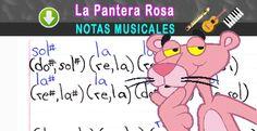 Notas Musicales: Notas Musicales: La Pantera Rosa + Video Tutorial