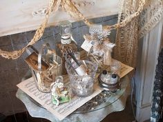 *Vintage ice buckets and bottles~Flea market finds~
