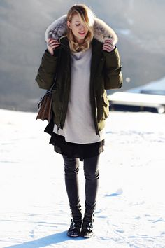 In the mountains, Corviglia Ohh Couture, Givenchy Boots, Leonie Hanne, St Moritz, Runway Fashion, Fashion Outfits, Stay Warm, Parka, Winter Outfits