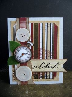 BoBunny Celebrate card - Scrapbook.com - Stunning card. #scrapbooking #cardmaking #bobunnypress