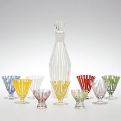'Strikt' cocktail set produced by Bengt Orup for Johansfors, 1950's. #mcmdaily #midcenturymodern #boda #bodaglass #sweden mcmdaily.com