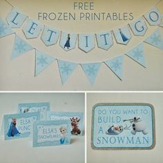 Free Disney Frozen Themed Food and Banner Prints