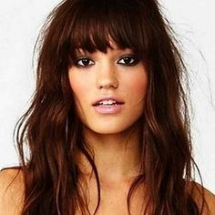 Love Long hairstyles with bangs? wanna give your hair a new look? Long hairstyles with bangs is a good choice for you. Here you will find some super sexy Long hairstyles with bangs, Find the best one for you, Oval Face Hairstyles, Pretty Hairstyles, Hairstyle Ideas, Party Hairstyle, Brown Hairstyles, Shaved Hairstyles, Bridal Hairstyle, Formal Hairstyles, How To Style Bangs