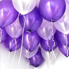 100 Pack White Light Purple Dark Violet Balloons for Valentines Day Party Mermaid Theme Decoration Thick Latex Helium Balloons Oz/bag Birthday Party Lavernder Balloon Decorations - Purple Stuff, Purple Love, Purple Ombre, All Things Purple, Shades Of Purple, Pastel Purple, Light Purple, White Light, Violet Aesthetic