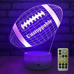 LED Decorative Football Lamp. Football themed room decor ideas. (Best gifts for boyfriend who plays football) Football Boyfriend Gifts, Boyfriend Gift Basket, Valentines Gifts For Boyfriend, Valentine Gifts, Boyfriend Boyfriend, Cheap Gifts, Cool Gifts, Football Care Package, Gifts For Boyfriend Long Distance