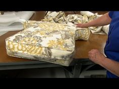 Sewing Cushion How to Make Armchair Cushions Video - Sailrite - As a companion to our first major upholstery video, How to Reupholster an Armchair ( Living Room Upholstery, Upholstery Tacks, Upholstery Repair, Upholstery Cushions, Upholstery Cleaning, Chair Cushions, Reupholster Furniture, Upholstered Furniture, Furniture Repair