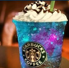 Cute Drink From Starbucks and the cup is galaxy themed