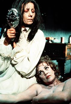 """Ingrid Pitt and Andrea Lawrence in """"Countess Dracula"""", 1971"""