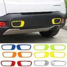 [ 40% OFF ] Newest Rear Bumper Trim Kit Exterior Cover Decoration Mouldings ABS For Jeep Renegade