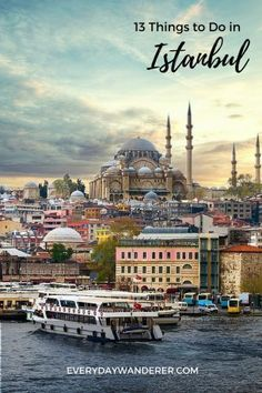 From climbing medieval stone towers to stepping inside one of the world's largest cathedrals, from sailing between two continents to sipping Turkish tea, there are many things to do in Istanbul, Turkey. Reise Hacks 13 Things to Do in Istanbul, Turkey Places To Travel, Travel Destinations, Places To Visit, European Destination, European Travel, Europe Travel Guide, Asia Travel, Ankara, Istanbul Travel