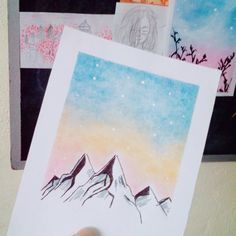 Oil Pastel Paintings, Pastel Art, Diy Artwork, Cute Disney Wallpaper, Watercolor Art, Anime, Drawings, Instagram, Inspiration