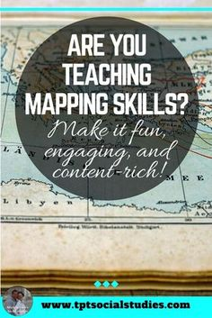 Teaching mapping skills in your Social Studies or World Geography middle school classroom can be much easier with these great student-centered activities. I love the Mapping the Lands series.