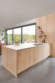 Kitchen Interior Remodeling Design in dennenhout - Fermetti Rustic Kitchen, New Kitchen, Kitchen Decor, Kitchen Ideas, Plywood Interior, Plywood Furniture, Modern Furniture, Furniture Design, Plywood Kitchen