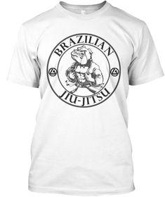 Bulldog Jitsu Best Seller White Kaos Front