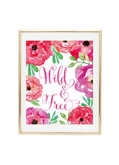 Free Printable Wild and Free Art from @chicfetti - easy wall art diy