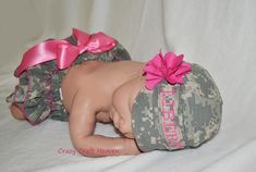 Baby military cap and diaper cover, military cap, Army, navy, marines, airforce, Baby girl on Etsy, $35.00