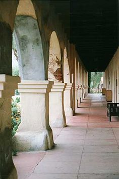 Portico of Mission Santa Ines