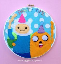 Adventure Time Finn and Jake Hoop by iggystarpup
