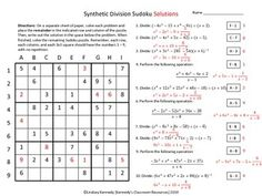 math worksheet : polynomial division color by numbers  division color by numbers  : Synthetic Division Worksheet