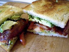 Katie-Kate's Kitchen: California BLT  Reminds me of the Trolley Stop-I loved their Avocado BLT.