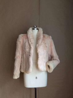 vintage 80's rabbit fur jacket / fur coat / fur jacket / rabbit / lush retro outerwear / womens by yellowjacketvintage on Etsy