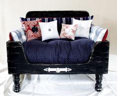 Upcycled Dog Bed Rylan Pet Lounger. by designercraftgirl on Etsy