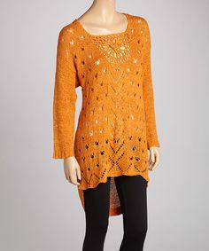 Rust Crochet Linen-Blend Tunic by Pretty Angel  - regularly $83, Zulily price $29.99 2/05/2014
