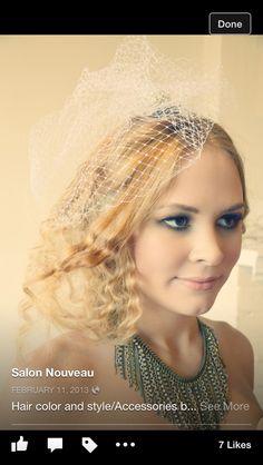 Bridal hair makeup and photo by Salon Nouveau