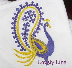 Kutch Work Peacock - IndusLadies