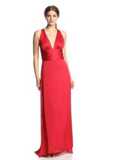 a602c7e7322a Elegantes, tailliertes, rotes, bodenlanges Abendkleid mit tiefem  V-Ausschnitt - My-US-Store. Abendkleid Mit SchleppeSexy ...