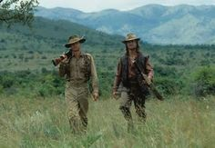 Great safari hats worn by Michael Douglas and Val Kilmer on the set of The Ghost & The Darkness.