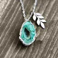 One of a kind gemstone druzy necklaces and rings by German jewelry label koshikira kk