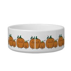 Happy Pumpkin Family Pet Water Bowls - Food too!