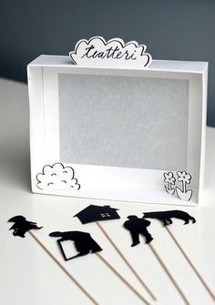 6 Boredom-Busting Crafts for the Entire Family ⋆ Handmade Charlotte DIY Shadow Box Puppet Theater<br> A handful of original DIY ideas to keep kids easily entertained and inspired over a free weekend. Kids Crafts, Projects For Kids, Diy For Kids, Diy And Crafts, Craft Projects, Arts And Crafts, Paper Crafts, Upcycled Crafts, Cadre Diy