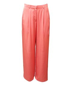 MAURIE AND EVE  onyx split pant | SHOP NOW > http://www.threadbare.co/collections/designers-clothing/products/onyx-split-pant #maurieandeve #slit #wideleg #70s #coral #colour #statementpant