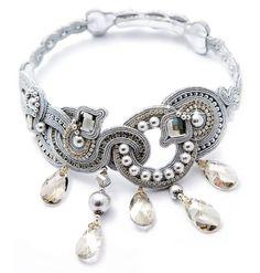 Dori's high fashion bridal necklace #DoriCsengeri #bridal #wedding #necklace #silver