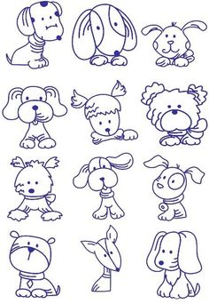 How to draw cartoon dogs